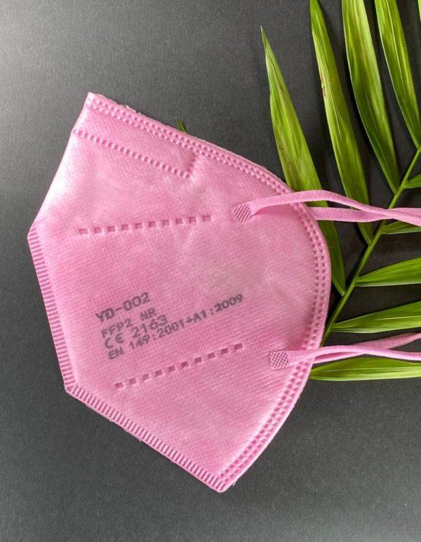 Mascarilla FFP2 certificado ce en color rosa